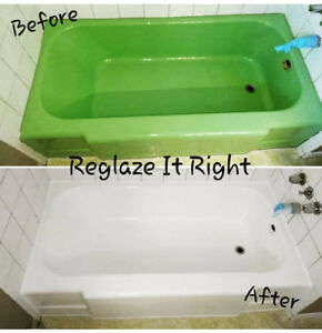 Reglazing Bathtubs & Tile, Grout Cleaning & Caulking Renewal.