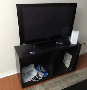 IKEA BESTA BLACK-BROWN TV BENCH + 1 SHELF