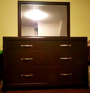 Dresser w/ mirror + nightstand
