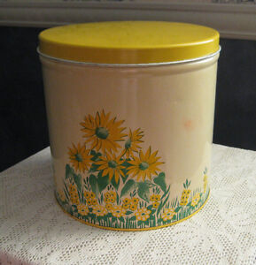 metal tin can from the 1950's- storage canister