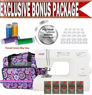 Janome Hd3000 Heavy-duty Sewing Machine W Exclusive Platinum Series Sewing Pack