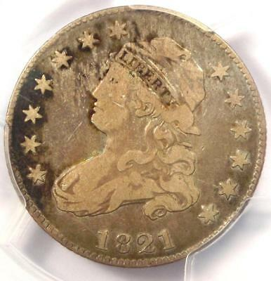 1821 Capped Bust Quarter 25C - PCGS F12 - Rare Early Date Coin - $400 Value!