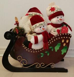 Wooden Christmas Santa Sleigh - Brand New
