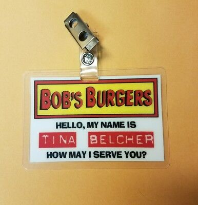 Bob's Burgers TV Series ID Badge - Tina Belcher Costume prop cosplay