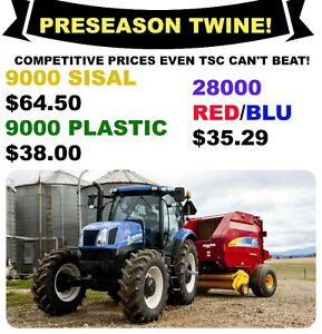New Holland Twine, netwrap and sunfilm McCauley Equipment prices
