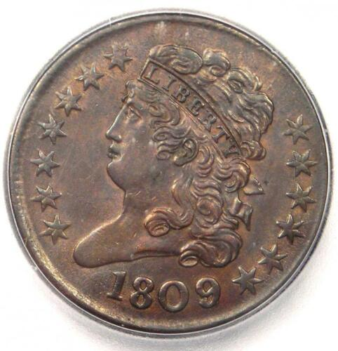 1809/6 Classic Head Half Cent 1/2C - Certified ICG MS62 (BU UNC) - $1,690 Value!
