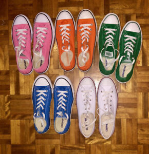 Converse Low-cut Sneakers - 5 Pairs - Womens : Size 9.5