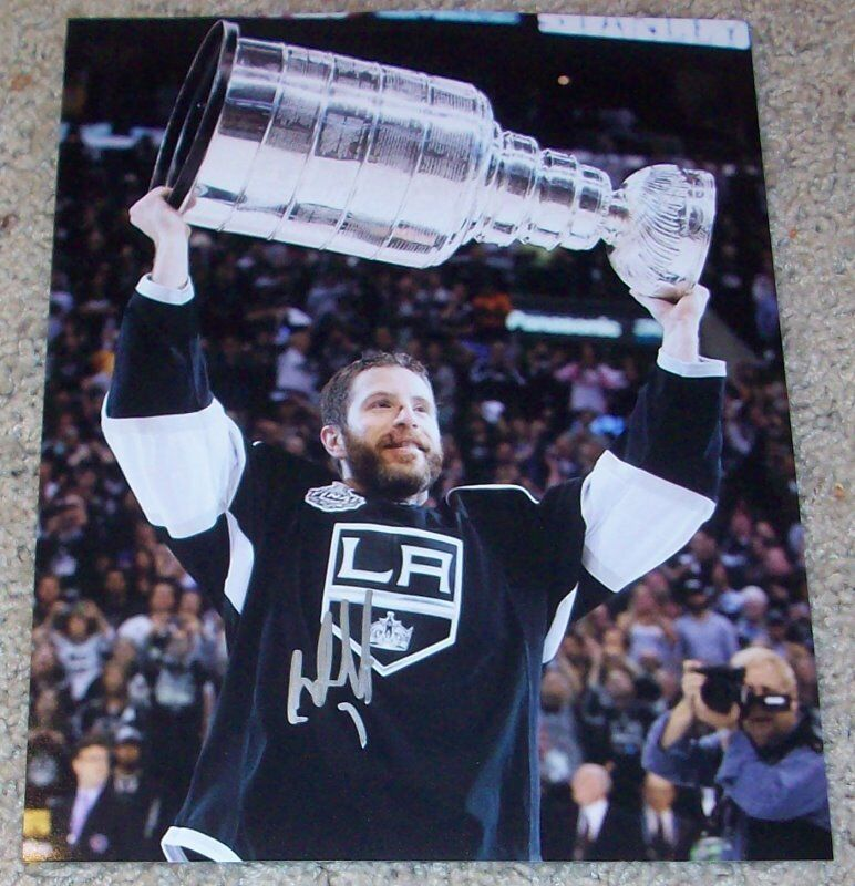 ROB SCUDERI SIGNED L.A. KINGS STANLEY CUP 8x10 PHOTO B w/PROOF LOS ANGELES
