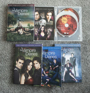 the Vampire Diaries seasons 1-4 DVD box sets