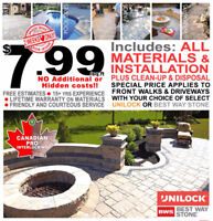 Back to school ALL-IN interlocking special $7.99/sqft installed