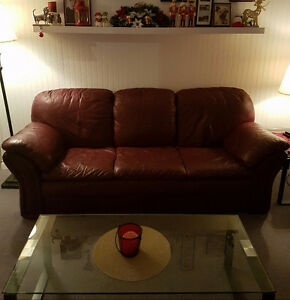 Completely Full Leather Couch ( Sofa )