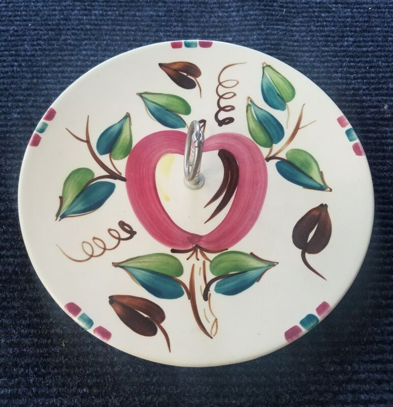 purinton slip ware pottery apple cheese/cookie plate?