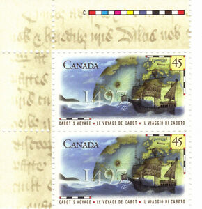 Canada Stamps - Cabot's Voyage 1497 45c (Corner 2) West Island Greater Montréal image 1