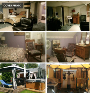 Two bedroom apartment upstairs lake Ontario view