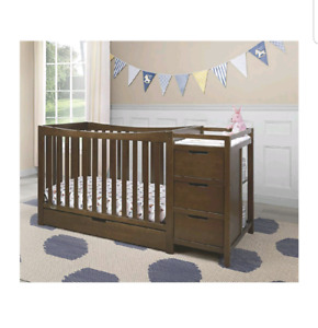 Brand new baby crib and change table