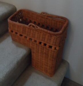 Stair Basket (Wicker) Save Trips UP and DOWN!