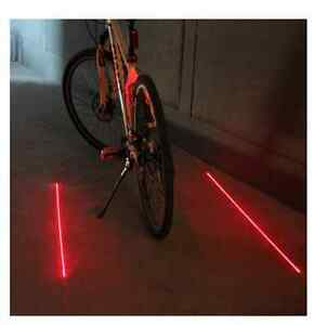 2 Laser 5 LED Rear Bike Bicycle Tail Light Beam Safety Warning R