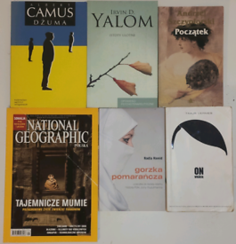 Polish books x5 + Nat Geo magazine + Technopol crosswords x3 worth £60
