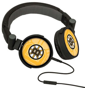 Boston Bruins Keyscaper DJ Style Headphones - Brand New -
