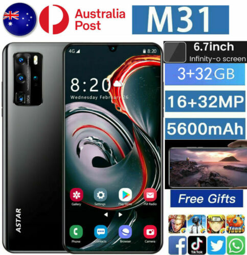 """Android Phone - 2021 AUS New M31 6.7"""" Smart phone Android 10.0 10-Core 5600mah 3+32GB MTK6889 5G"""