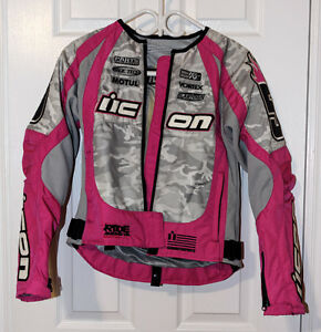 ► Textile Ladies Riding Jacket (Armored) Size XS