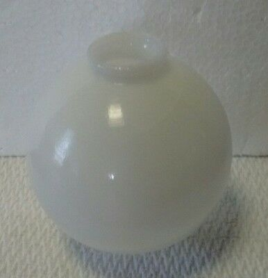 Small White Milk Glass 3.5 Inches Lightning Rod Ball Home Den Farm Yard Decor