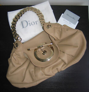 Runway Dior Jazzclub Medium Flapped Bag Beige Leather
