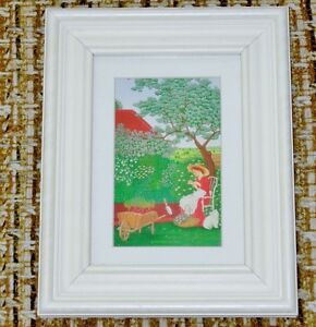 Woman in the Garden Print