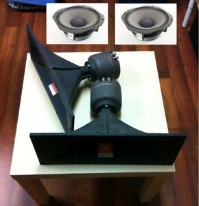 set of JBL speakers - high & mid - no cabinet