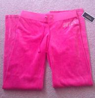 New bright pink juicy couture rhinestone sweats size M