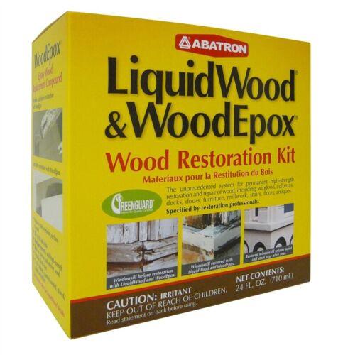 NEW Abatron WRK6OR Wood Restoration Kit 24 Oz LIQUID WOOD & WOODEPOX 5466107