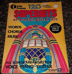 K Tel Music Book 120 Super Hits of 50's 60's 70's 1975 Reduced
