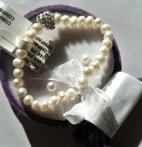 BRAND NEW CHILD PEARL Bracelet & Earring Set