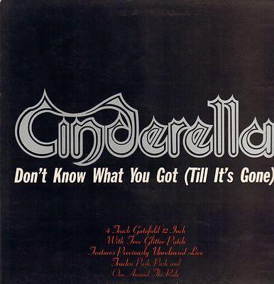 """Cinderella(12"""" Vinyl Gatefold)Don't Know What You Got-Vertigo-VERXG 43-VG/Ex"""