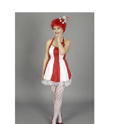 Rot Weiß Kleid Kostüm (Clown Harlekin Kostüm Kleid Zirkus Clownkostüm Pirrot rot weiß Köln Kölle Hut)