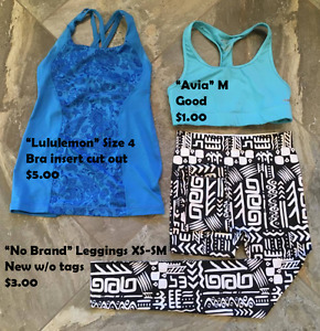 Teen/Ladies XS-M Sports Clothing (prices/brands on photos)