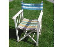 Original 1960's Directors Chair (great for beach hut)