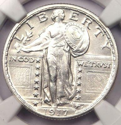 1917 T2 Standing Liberty Quarter 25C Coin - NGC Uncirculated Details (UNC MS)!
