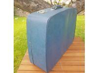 Vintage Antler blue suitcase