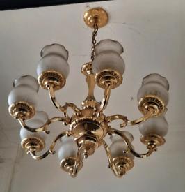 Eight shade chandelier