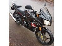 Lexmoto XTRS125 2015 Black only covered 2400 miles, excellent condition serviced ready to ride away.