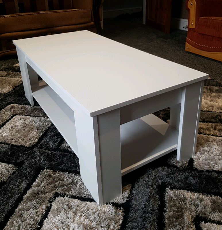 White Lift Up Coffee Table.White Lift Up Coffee Table With Storage And Bottom Shelf In Rochdale Manchester Gumtree