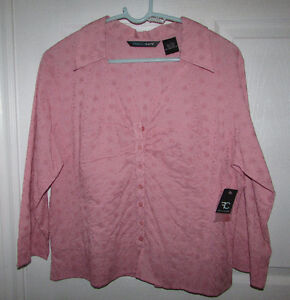Blush Pink Embroidered Blouse - Large - BRAND NEW