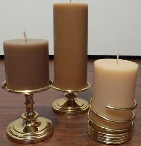 Partylite Brass Pillar holders Prince George British Columbia image 1