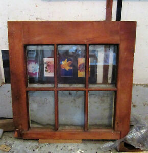 ANTIQUE WINDOW FRAME FOR MIRROR