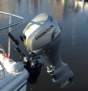 2013 HONDA Outboard 9.9 HP Long Shaft Electric Start Four Stroke