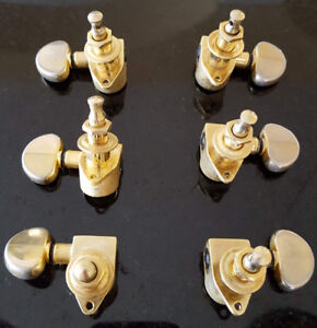 Grover gold tuners 3 per side