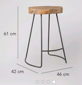 Swoon Industrial Style Bar stool New