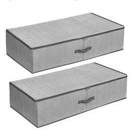 SONGMICS Underbed Storage Box, Set of 2, 82 x 42 x 20 cm