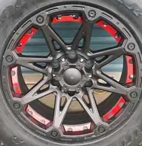 """***4 NEW*** 17"""" WHEEL AND TIRE PACKAGE DEAL 6X135 F150"""